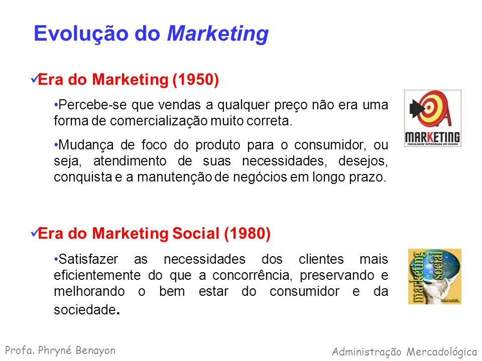 Evolução do Marketing Era do Marketing (1950)