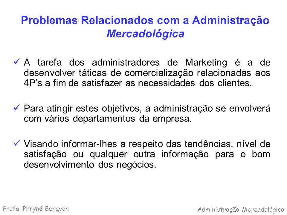 Problemas Relacionados com a Administração Mercadológica