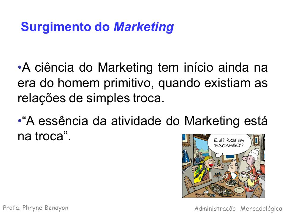Surgimento do Marketing