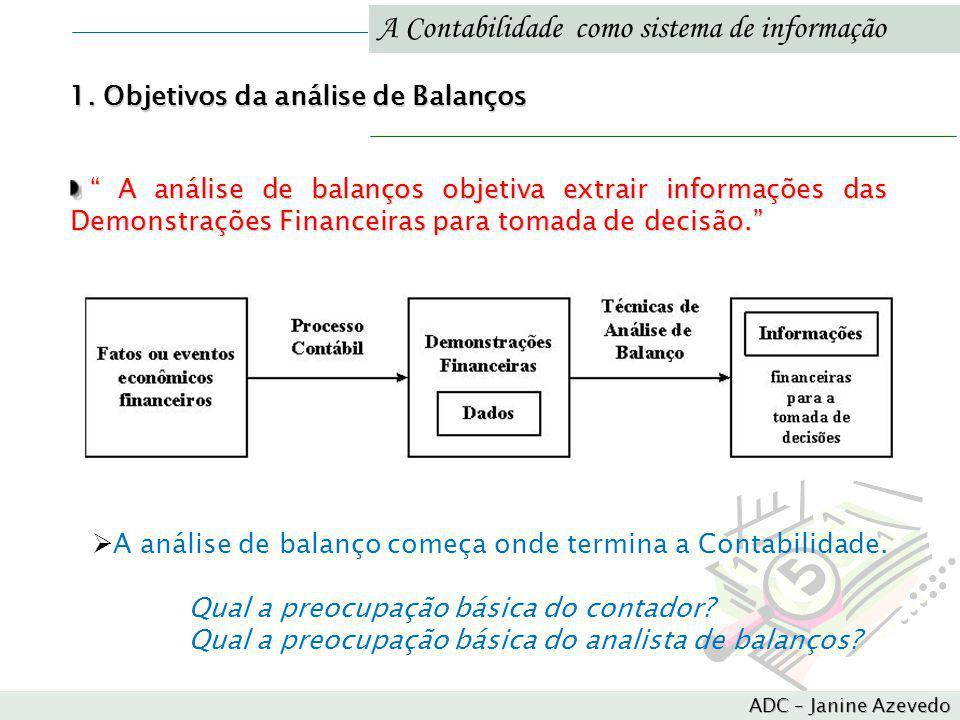 A Contabilidade como sistema de informação