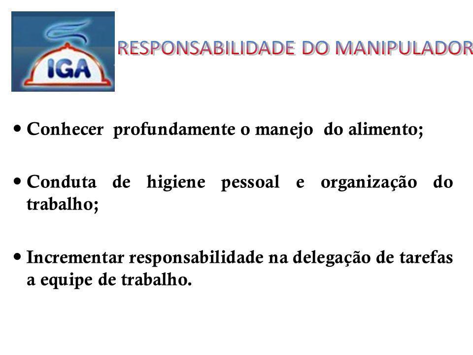 RESPONSABILIDADE DO MANIPULADOR