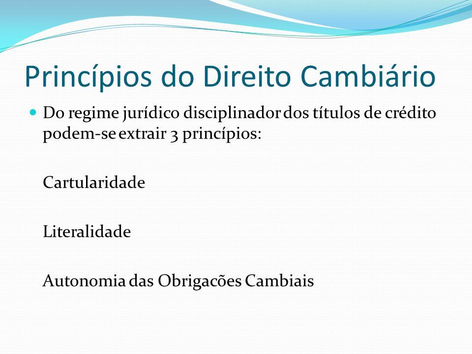 Princípios do Direito Cambiário