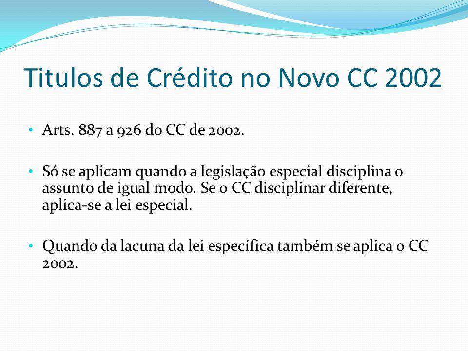 Titulos de Crédito no Novo CC 2002