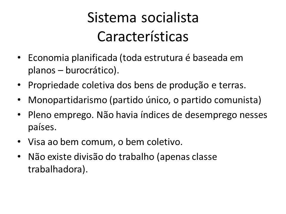 Sistema socialista Características