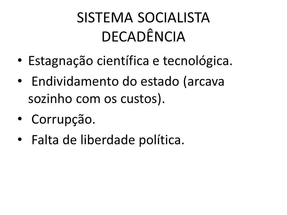 SISTEMA SOCIALISTA DECADÊNCIA