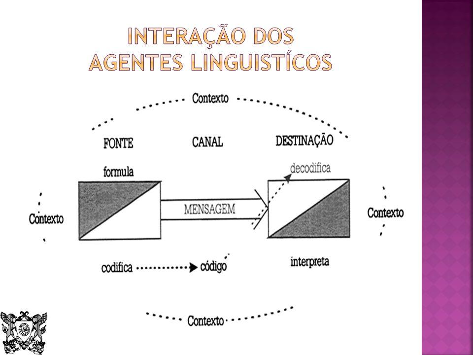 Interação dos agentes linguistícos