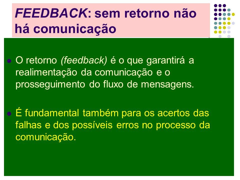 FEEDBACK: sem retorno não há comunicação