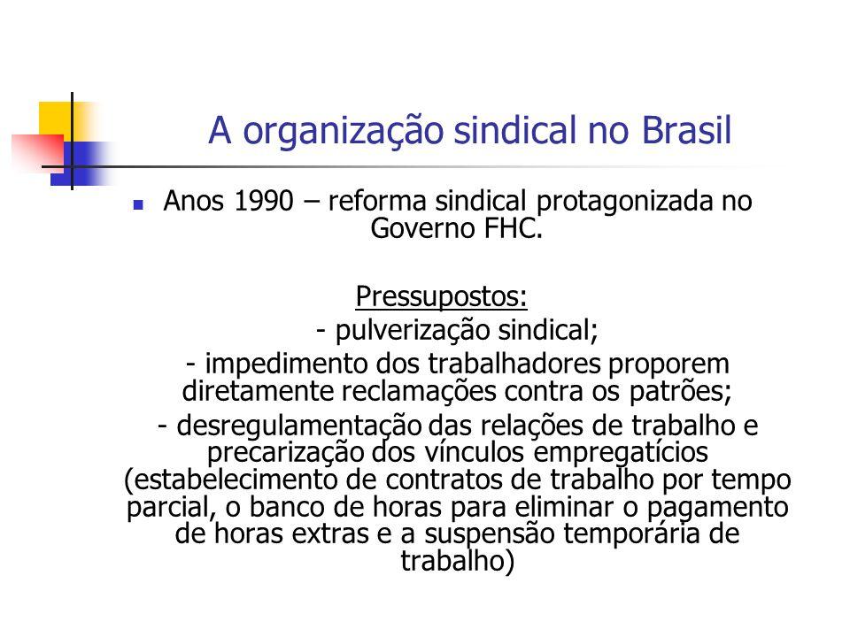 A organização sindical no Brasil