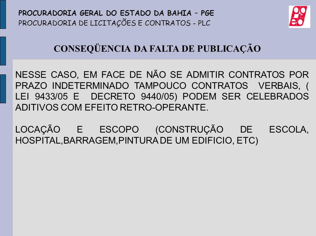 CONSEQÜENCIA DA FALTA DE PUBLICAÇÃO