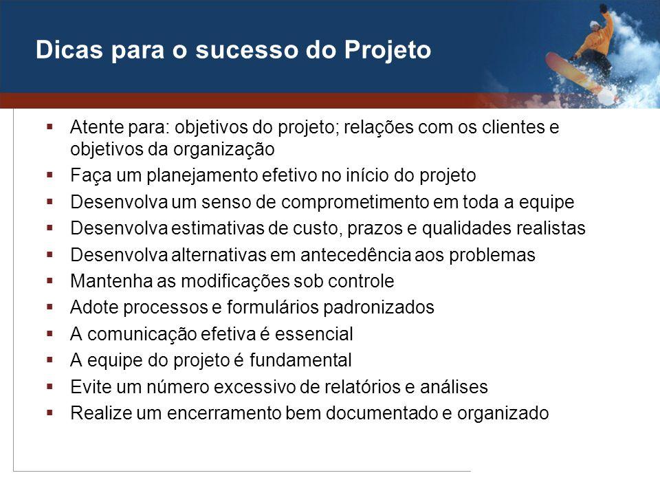 Dicas para o sucesso do Projeto