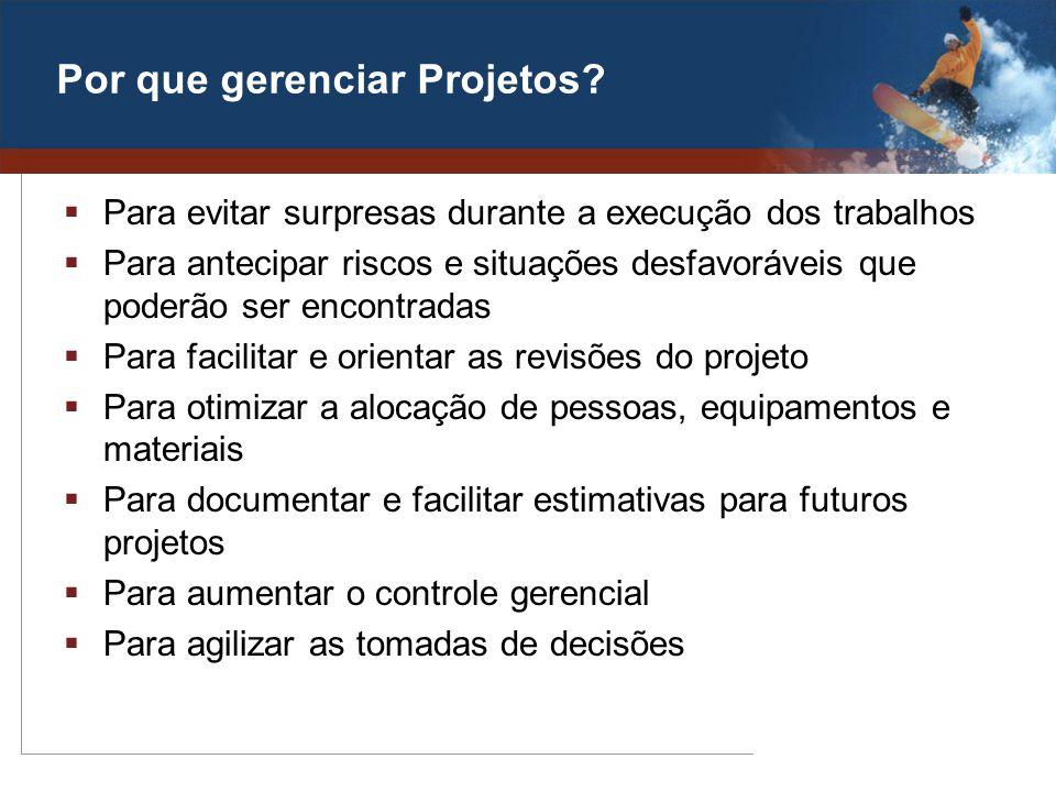 Por que gerenciar Projetos