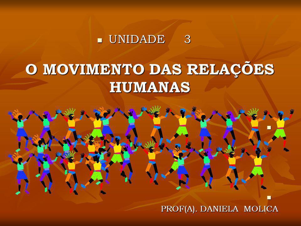 UNIDADE 3 O MOVIMENTO DAS RELAÇÕES HUMANAS