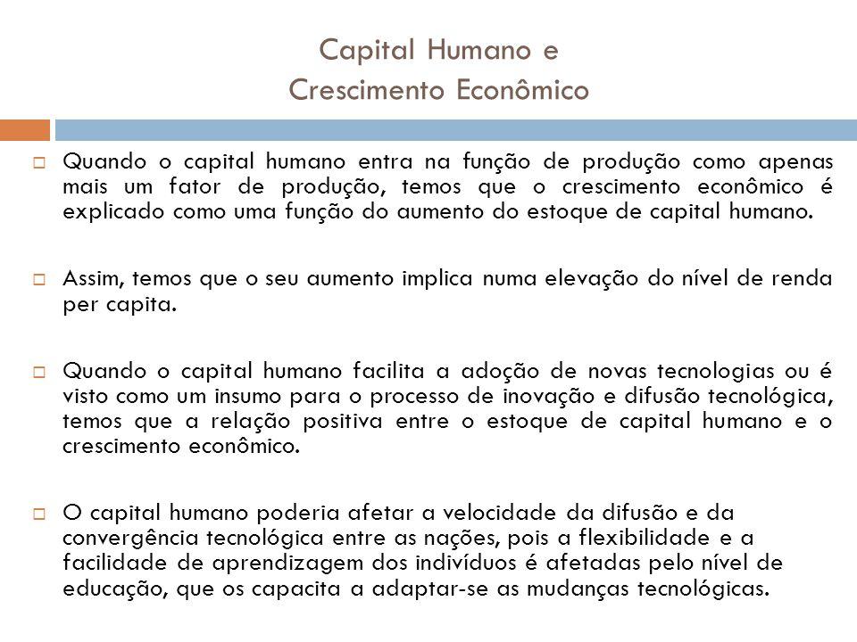 Capital Humano e Crescimento Econômico