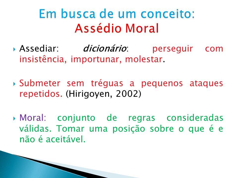 Em busca de um conceito: Assédio Moral