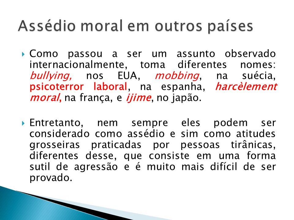 Assédio moral em outros países
