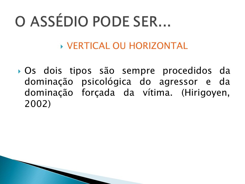 VERTICAL OU HORIZONTAL