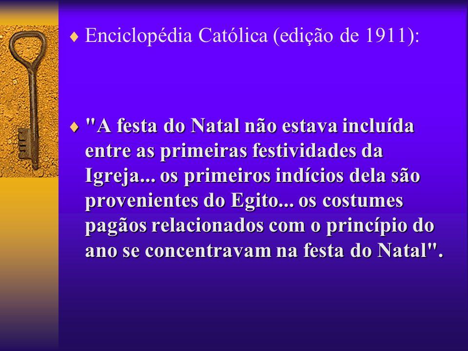 Enciclopédia Católica (edição de 1911):