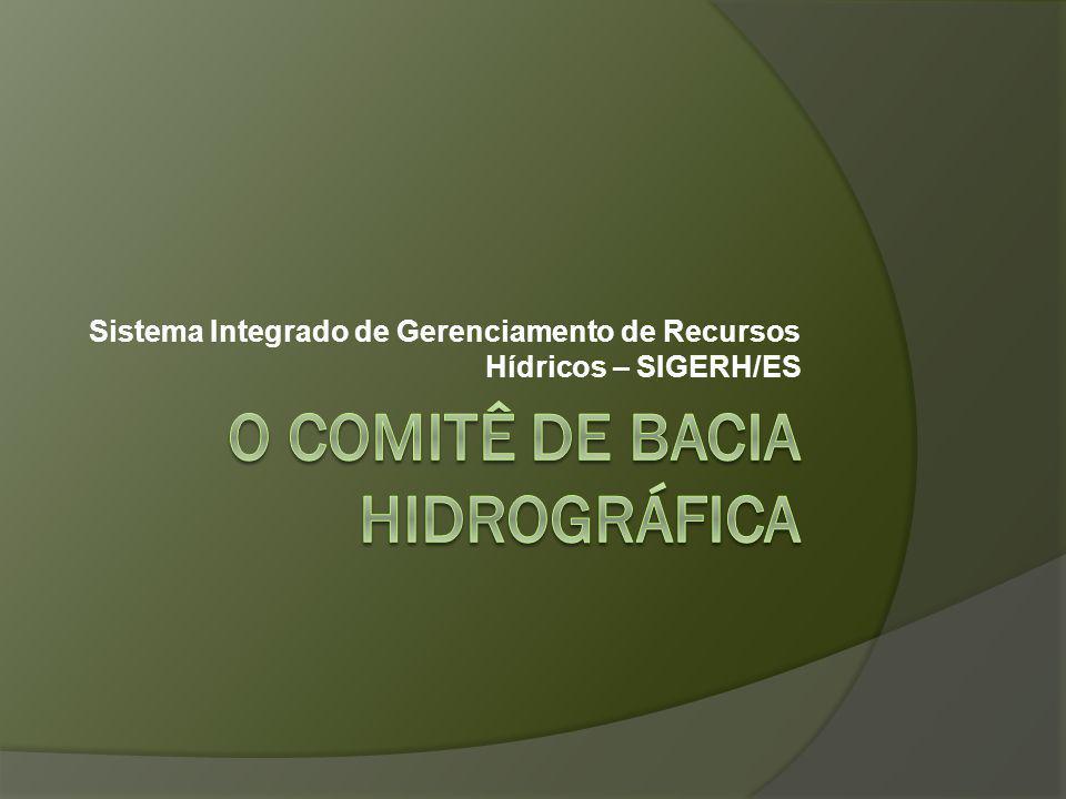 O Comitê de bacia hidrográfica