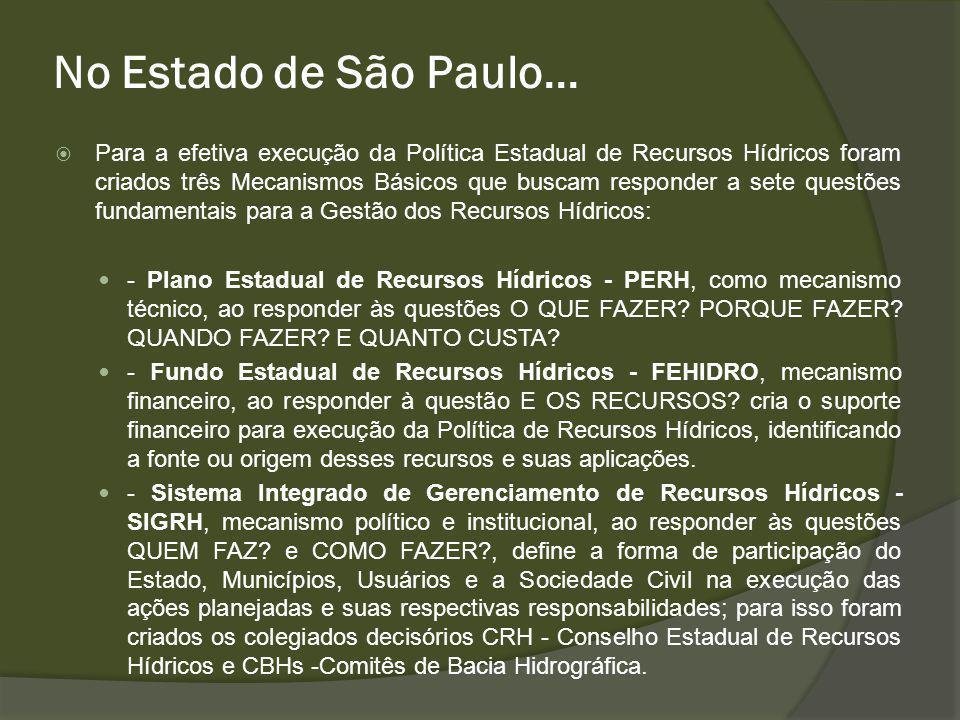 No Estado de São Paulo...