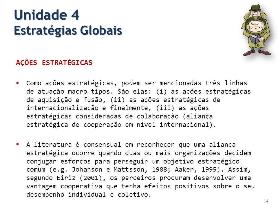 Unidade 4 Estratégias Globais