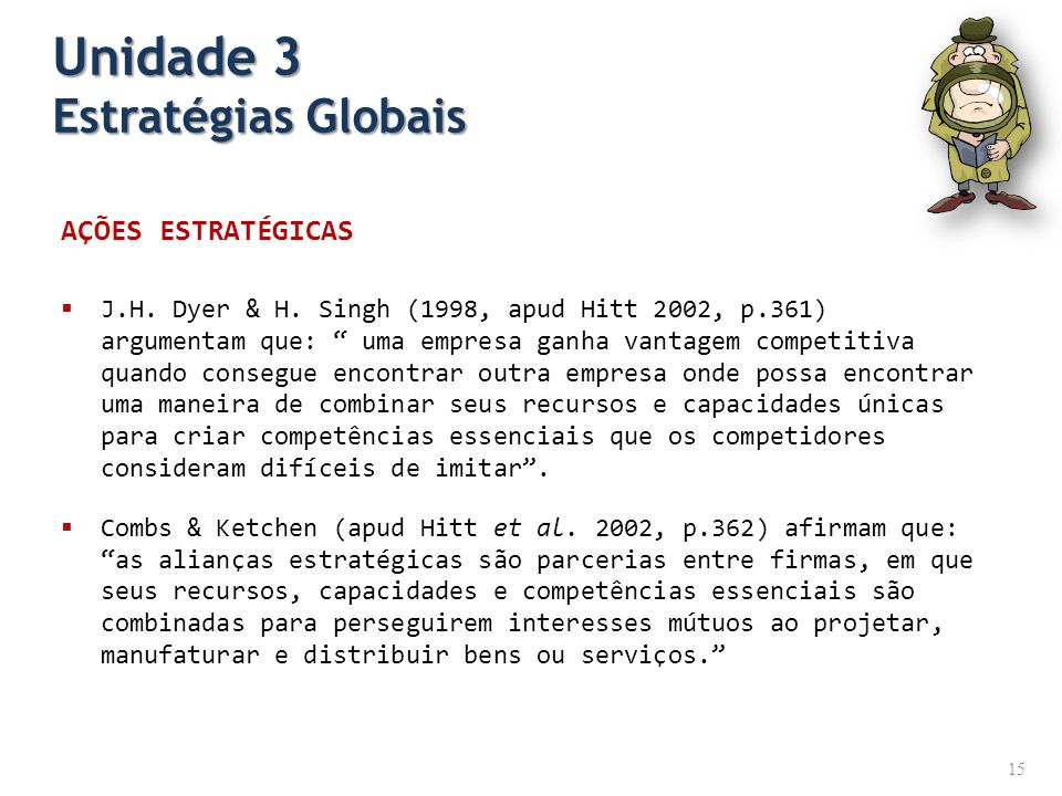 Unidade 3 Estratégias Globais