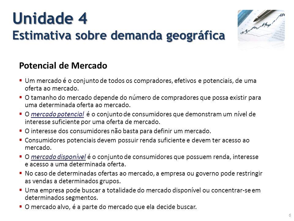 Unidade 4 Estimativa sobre demanda geográfica