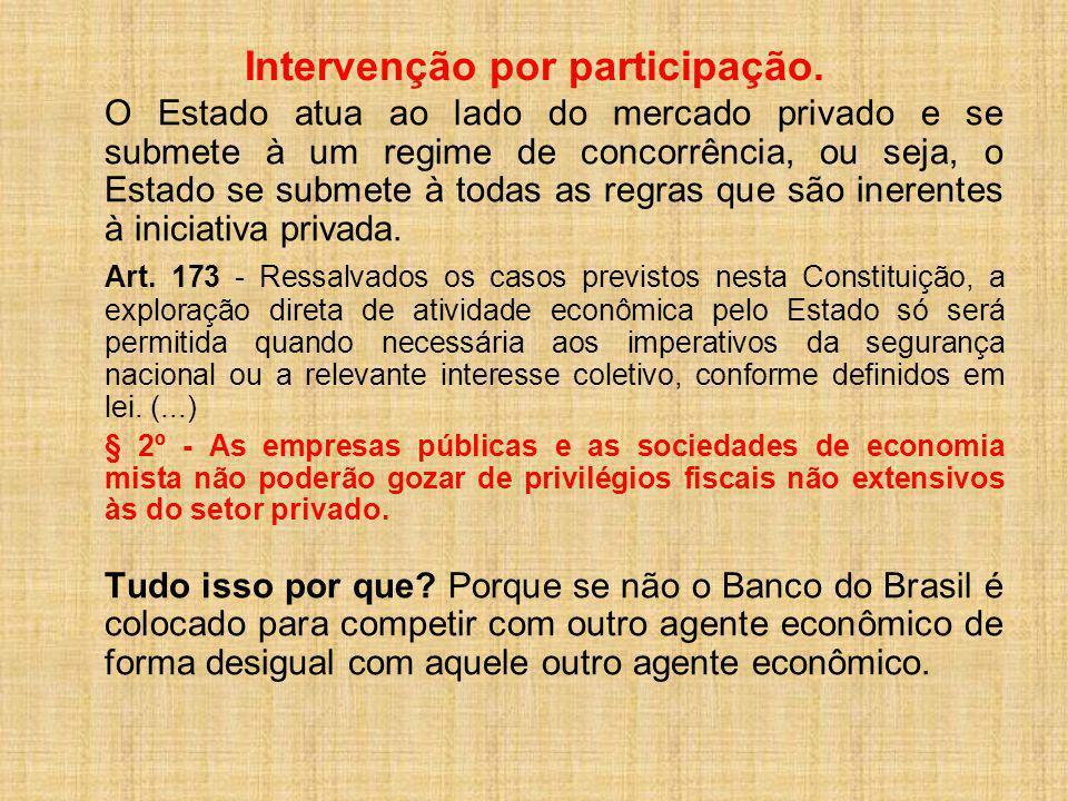 Intervenção por participação.