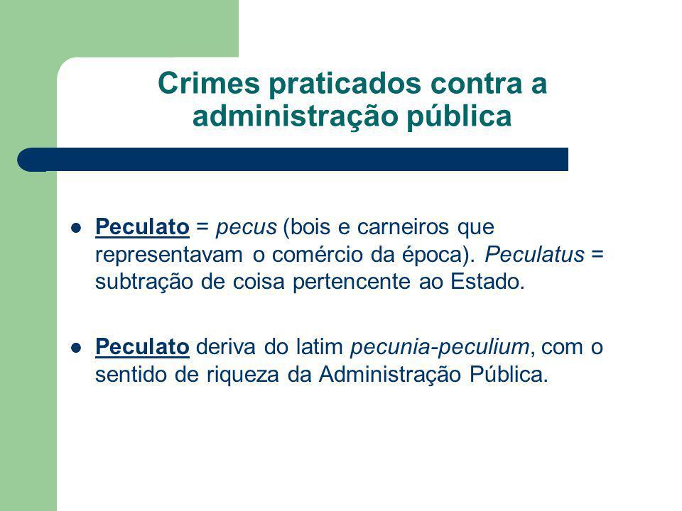Crimes praticados contra a administração pública