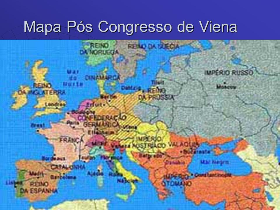 Mapa Pós Congresso de Viena