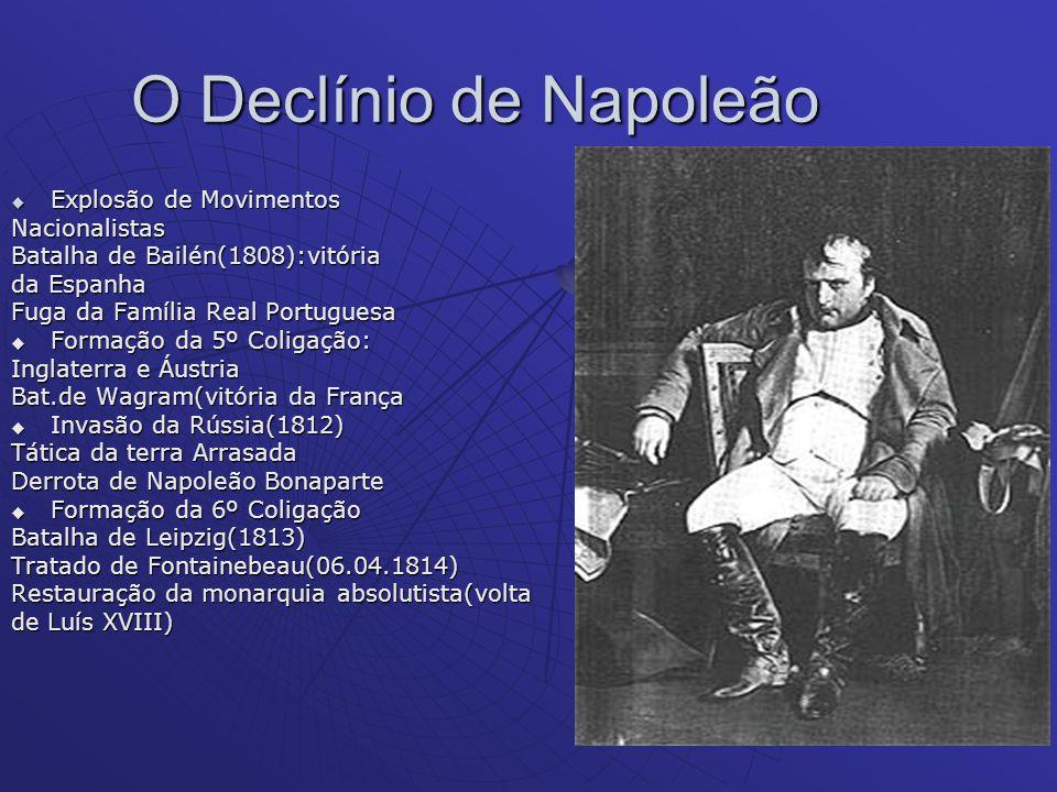 O Declínio de Napoleão Explosão de Movimentos Nacionalistas