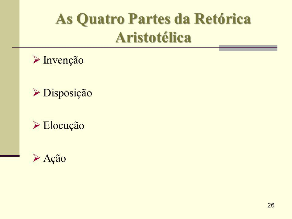 As Quatro Partes da Retórica Aristotélica