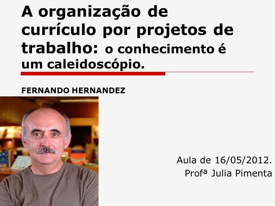 Aula de 16/05/2012. Profª Julia Pimenta
