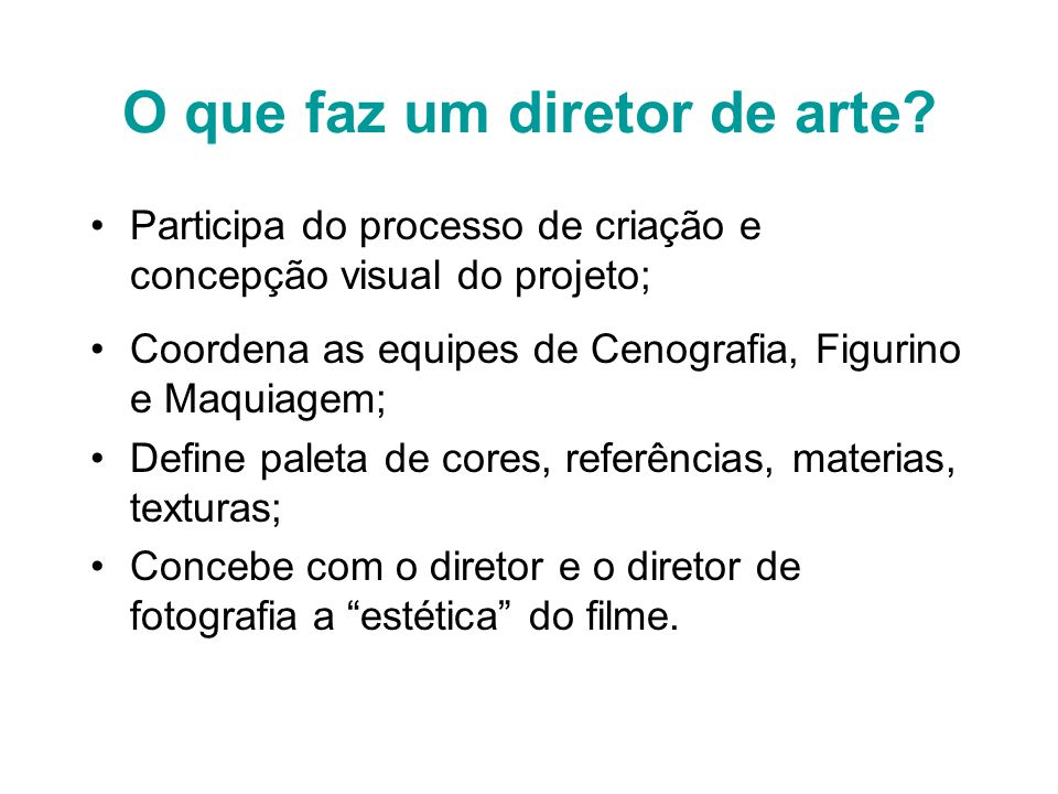O que faz um diretor de arte