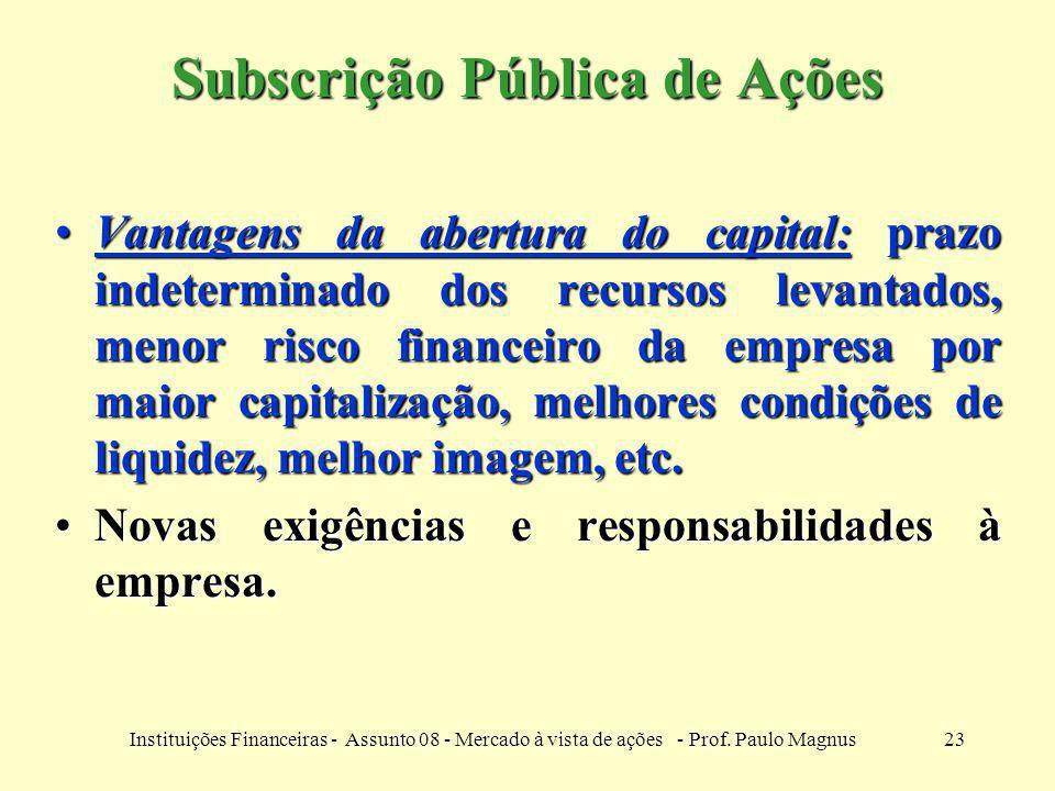 Subscrição Pública de Ações