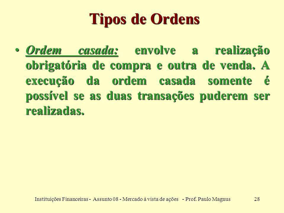 Tipos de Ordens