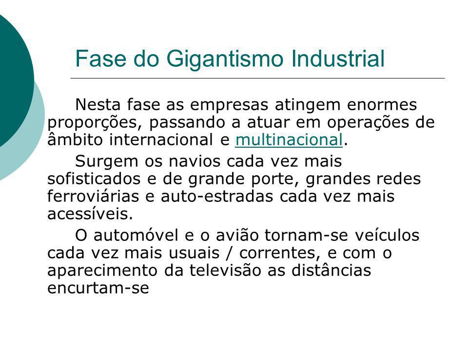 Fase do Gigantismo Industrial