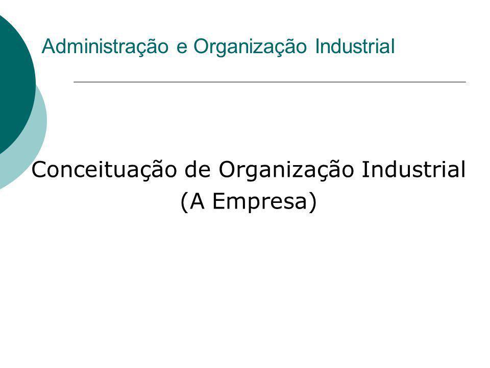 Administração e Organização Industrial