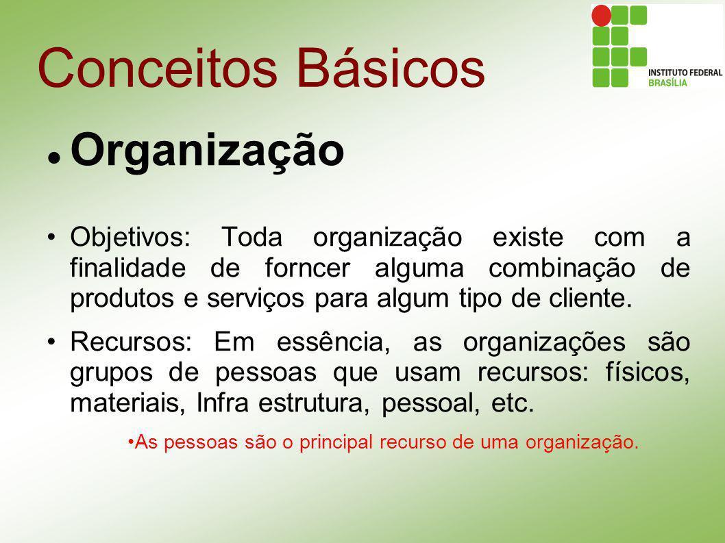 Conceitos Básicos Organização