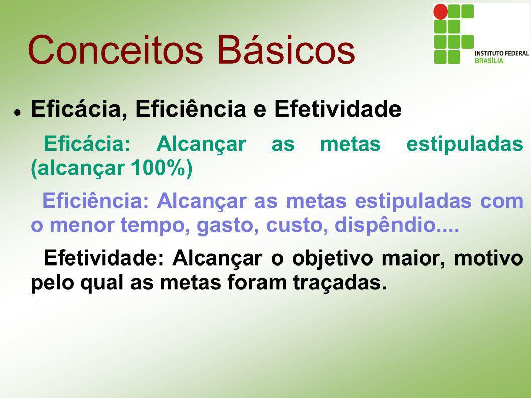 Conceitos Básicos Eficácia, Eficiência e Efetividade