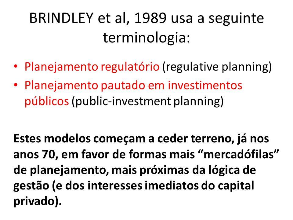 BRINDLEY et al, 1989 usa a seguinte terminologia:
