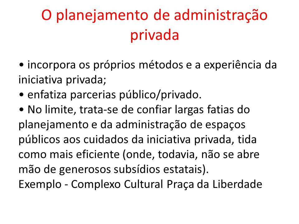O planejamento de administração privada