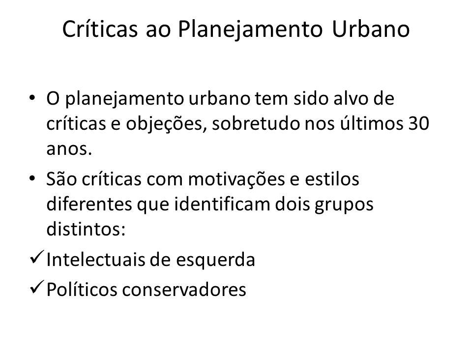 Críticas ao Planejamento Urbano