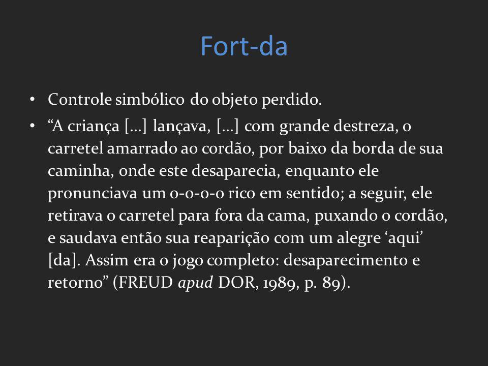 Fort-da Controle simbólico do objeto perdido.
