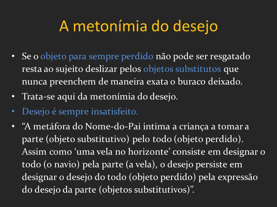 A metonímia do desejo