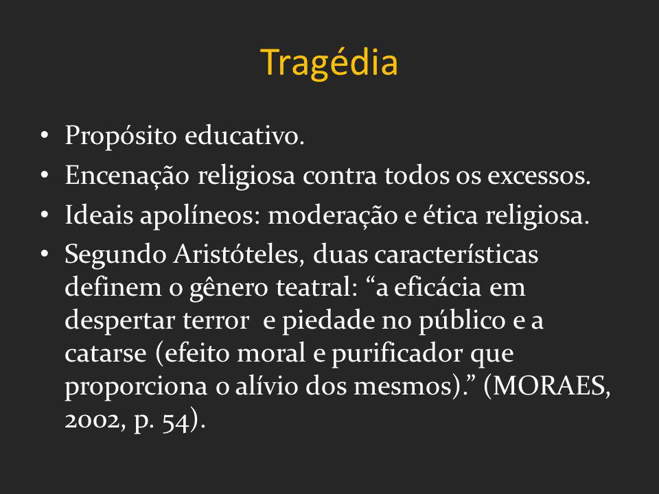 Tragédia Propósito educativo.