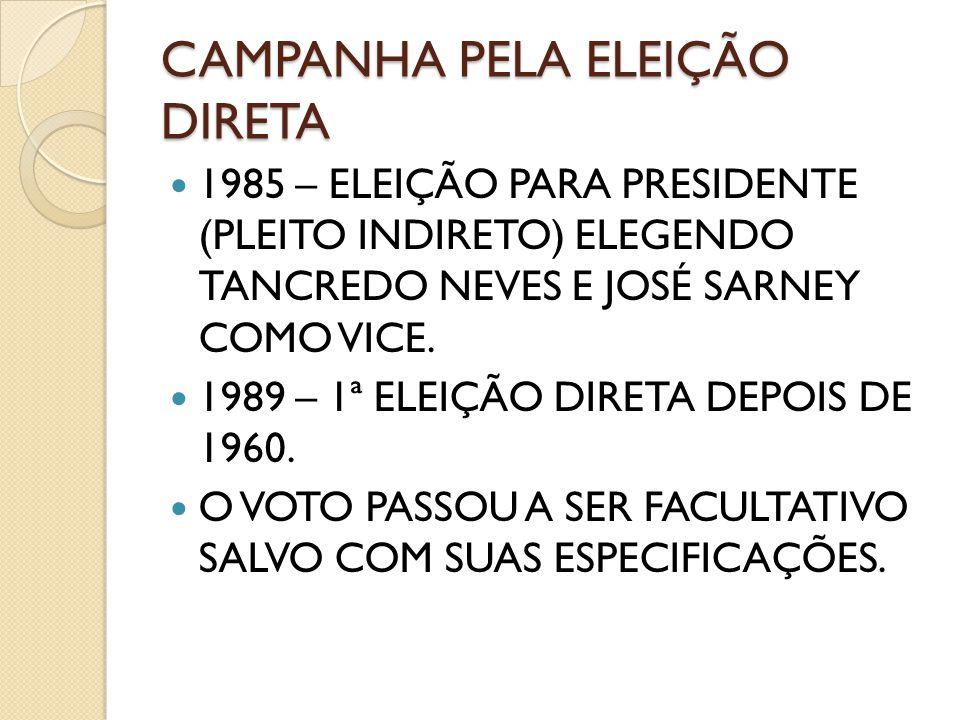 CAMPANHA PELA ELEIÇÃO DIRETA