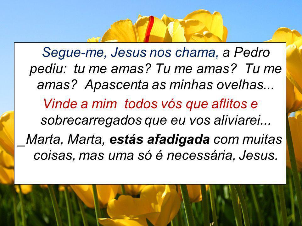 Segue-me, Jesus nos chama, a Pedro pediu: tu me amas. Tu me amas
