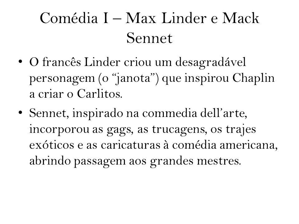 Comédia I – Max Linder e Mack Sennet