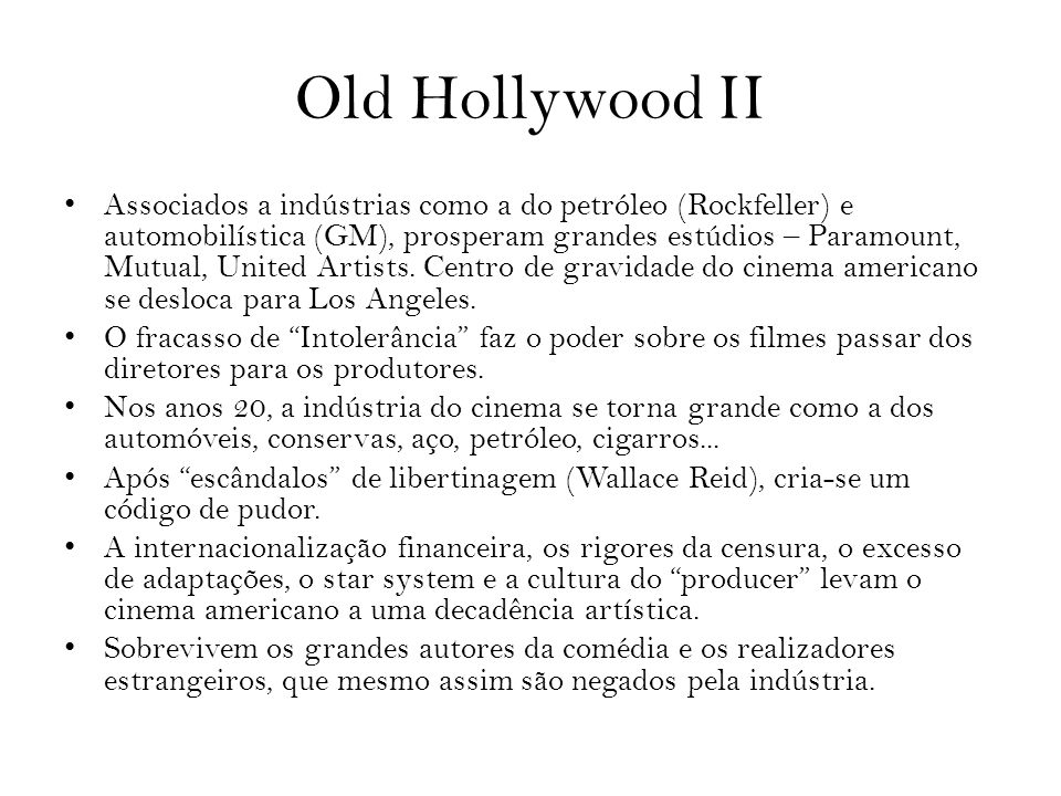 Old Hollywood II