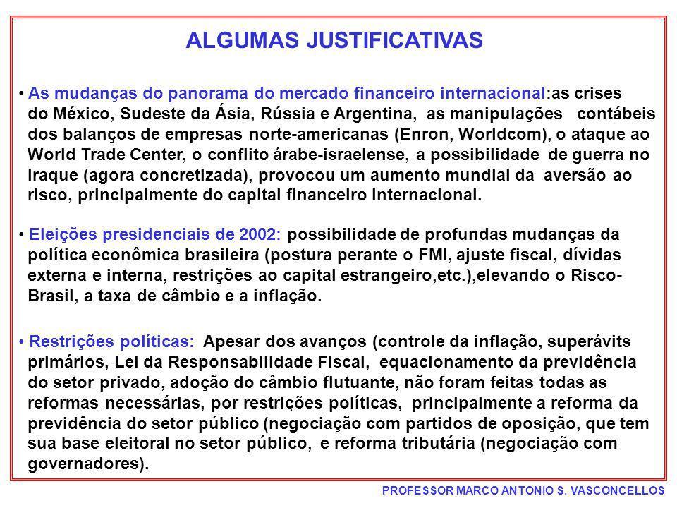ALGUMAS JUSTIFICATIVAS